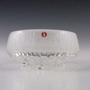 Iittala Finnish Glass 'Ultima Thule' Bowl by Tapio Wirkkala