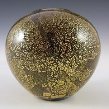 Isle of Wight Studio/Harris 'Azurene Gold' Glass Vase