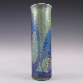 Isle of Wight Studio/Michael Harris Golden Peacock Glass Vase