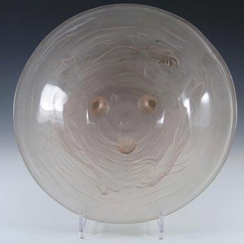 Jobling #12000 1930's Pink Art Deco Glass Koi Carp Fish Bowl