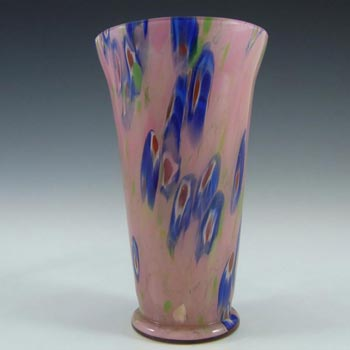 Kralik Czech Art Deco Millefiori Murrine Canes Glass Vase