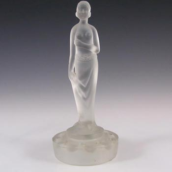 Müller & Co Art Deco Frosted Glass Nude Lady Figurine
