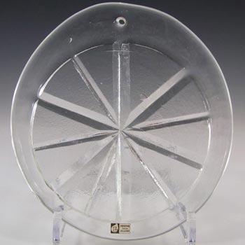 Lindshammar Large Swedish Clear Glass Suncatcher - Label