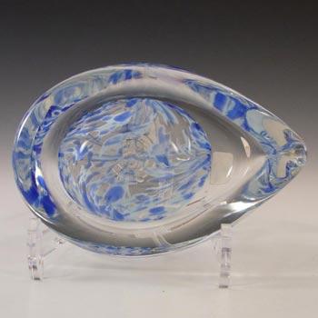 Liskeard British Blue Speckled Glass Bowl - Labelled