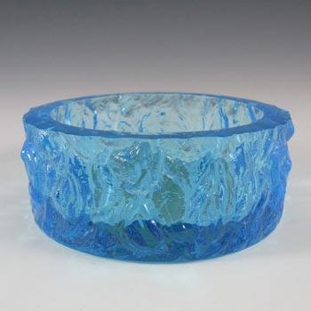 Davidson/Brama Blue Bark Textured Glass 'Luna' Bowl - Label