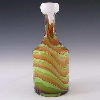 V.B. Opaline Florence Italian Empoli Marbled Glass Vase