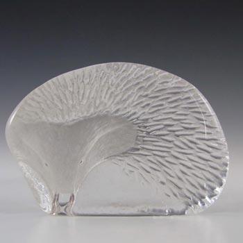 Mats Jonasson / Royal Krona #33144 Glass Hedgehog Paperweight - Signed