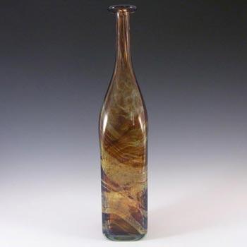 Mdina 'Tortoiseshell' Glass Decorative Bottle Vase - Signed