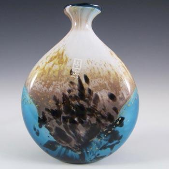 Mdina Maltese 'Seascape' Glass Vase - Signed + Labelled