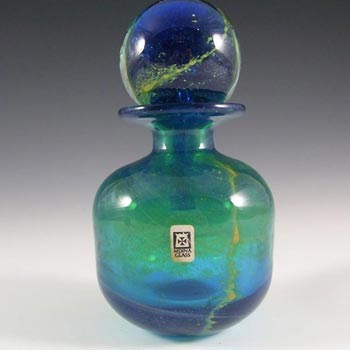 Mdina Maltese Blue & Green Glass Decorative Bottle - Signed