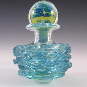 Mdina Maltese Blue Glass Decorative Bottle - Signed