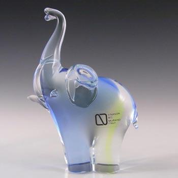 V. Nason & Co Murano Glass Elephant Sculpture - Labelled
