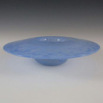 Nazeing Clouded Mottled Blue Bubble Glass Posy Bowl