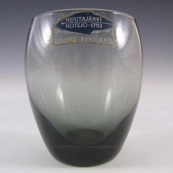 Nuutajarvi/Notsjo 'Marja' Smoky Shot Glass or Mini Vase