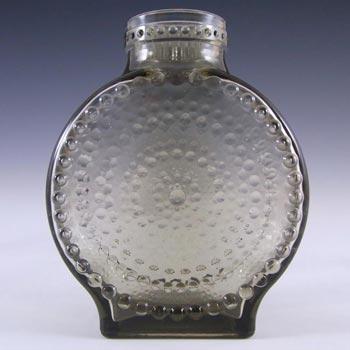 Cascade / Wood Bros Smokey Grey Glass 'Kastehelmi' Bottle Vase