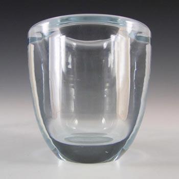 Orrefors Edvin Öhrström Signed Blue Glass Vase - #1688