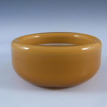 Holmegaard Palet Amber Cased Glass Bowl by Michael Bang