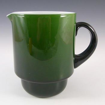Holmegaard Palet Green Cased Glass Jug by Michael Bang