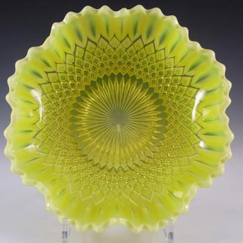 Davidson Primrose Pearline Uranium Glass 'Somerset' Bowl