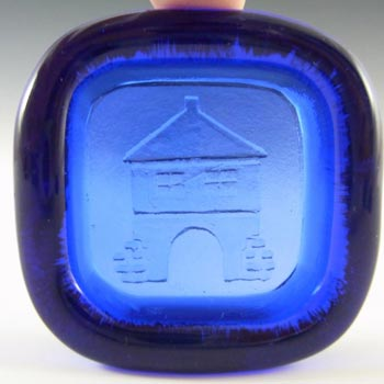 PLUS Glashytta 1970s Blue Glass Bowl - Richard Duborgh