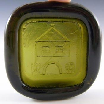 PLUS Glashytta 1970s Green Glass Bowl - Richard Duborgh