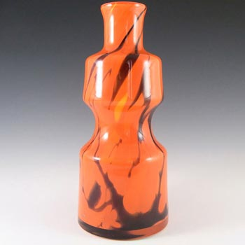 Prachen 70s Red Glass 'Flora' Vase - Frantisek Koudelka