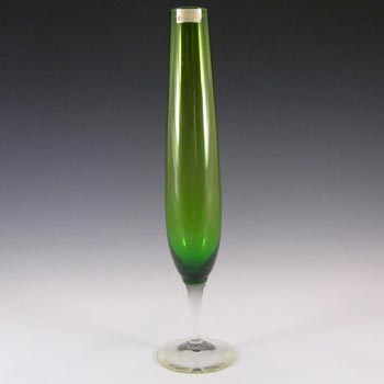 Randsfjord Norwegian 1970's Green Glass Vase - Labelled