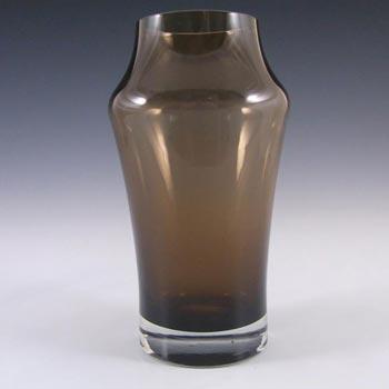 Riihimaki #1581 Riihimaen Lasi Oy Brown Glass Vase