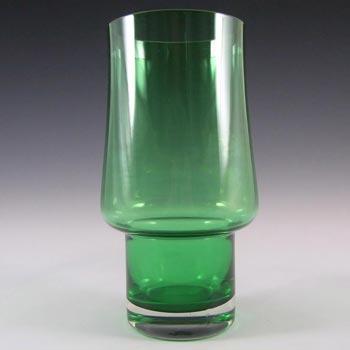 Riihimaki / Riihimaen Lasi Oy Finnish Green Glass Vase