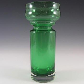 Riihimaki #1514 Riihimaen Green Glass 'Tulppaani' Vase