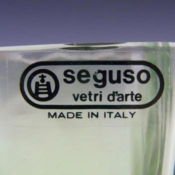 Seguso Vetri d'Arte Murano Green Glass Vase - Labelled