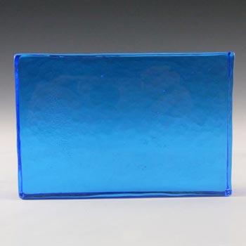 Lindshammar 1970's Swedish Blue Glass Architectural Slab