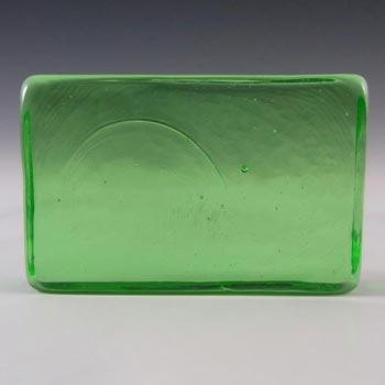 Lindshammar 1970's Swedish Green Glass Architectural Slab