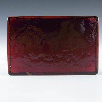 Lindshammar Swedish Orange / Red Glass Architectural Slab