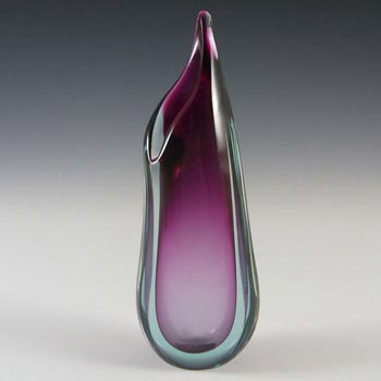 Murano/Venetian Purple & Blue Sommerso Glass Vase