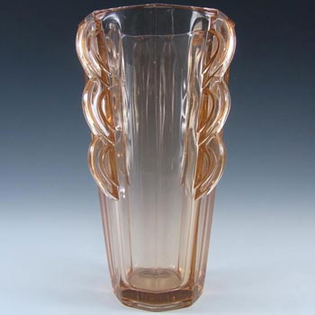Sowerby #2597 Art Deco 1930's 'Rosalin' Pink Glass Vase