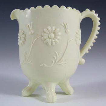 Sowerby #1346 Victorian Queen's Ivory Milk Glass Creamer - Marked