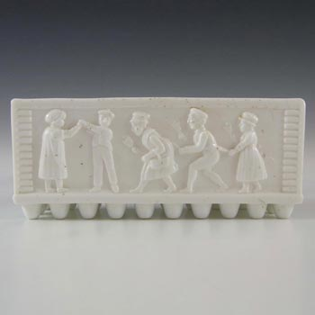 Sowerby #1293.5 Victorian White Milk Glass Posy Trough - Marked
