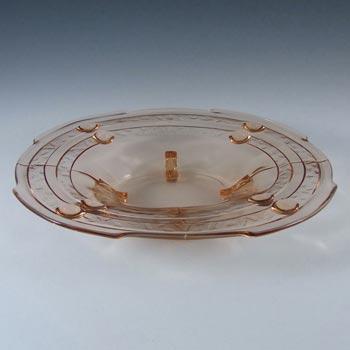 Stölzle #19416 Czech Art Deco 1930's Pink Glass Bowl