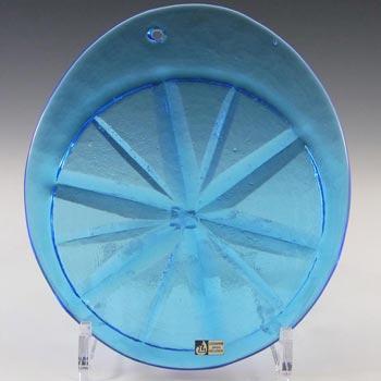 Lindshammar Large Swedish Blue Glass Suncatcher - Label