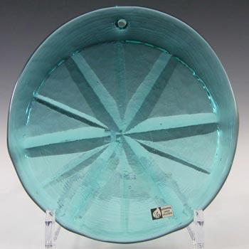 Lindshammar Large Swedish Turquoise Glass Suncatcher - Label