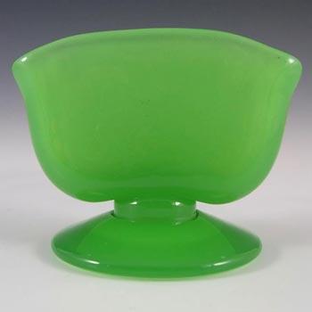 Victorian Uranium Jade Green Glass Toothpick Holder/Vase