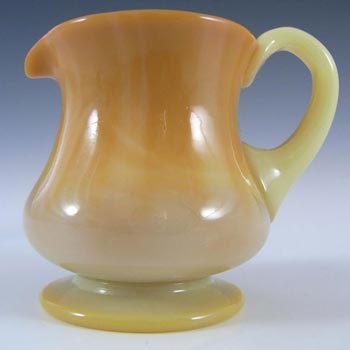 Victorian Uranium Orange Glass Jug / Creamer