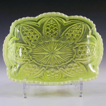 Henry Greener Vaseline / Pearline Uranium Glass Bowl