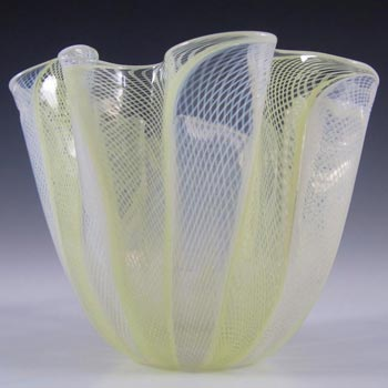 Venini Murano Glass Zanfirico Fazzoletto Vase - Marked