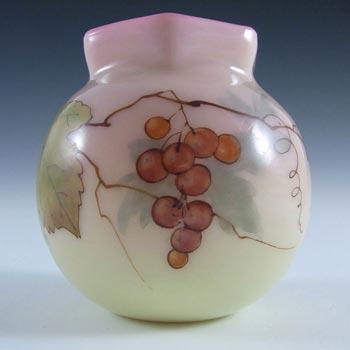 Thomas Webb Victorian Burmese Uranium Glass Vase