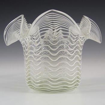 Stevens & Williams? Victorian 1890s Glass Threaded Vase