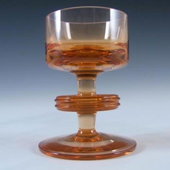 MARKED Wedgwood Topaz Glass Sheringham Candlestick RSW13/1