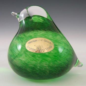 Wedgwood Green Glass Fledgling Bird Paperweight - Marked