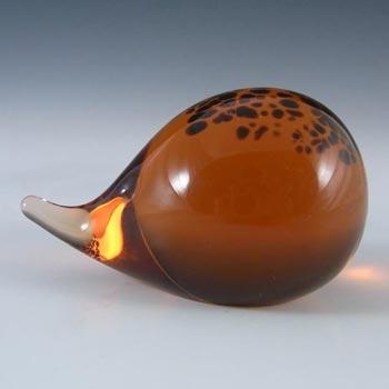 Wedgwood Brown + Topaz Glass Lilliput Hedgehog L5017